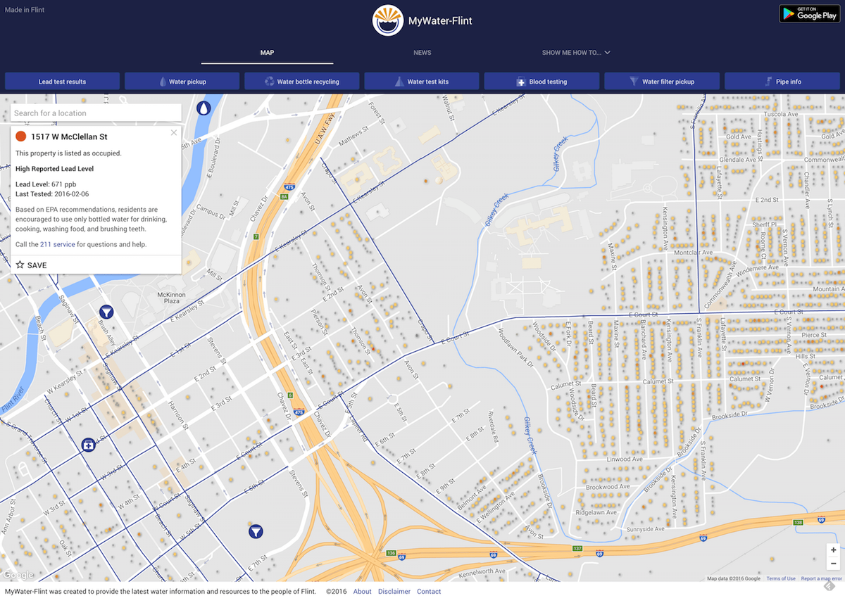 SCIS Alumni introduced an application to help residents of Flint, Michigan in water crisis | School of Computing and Information Sciences 1