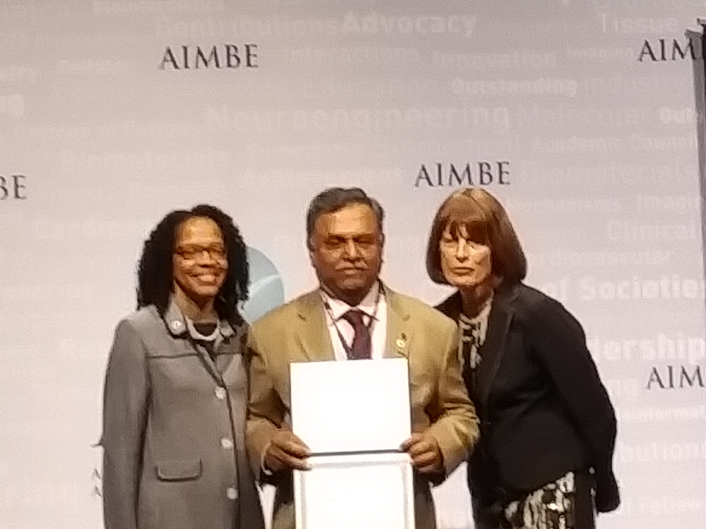 Dr. Iyengar gets inducted into College of Fellows in the AIMBE