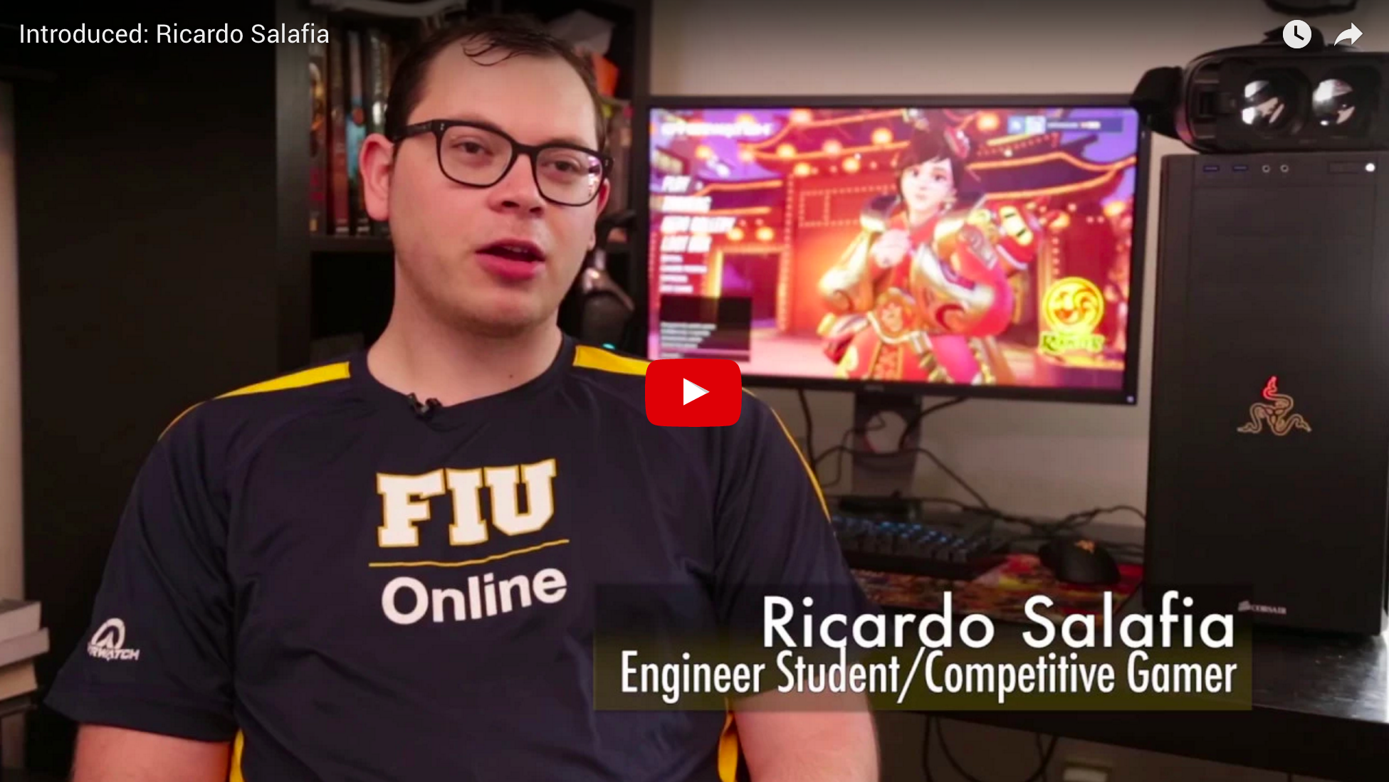 IT student Ricardo Salafia, talks about the future of Gaming & Computing | School of Computing and Information Sciences