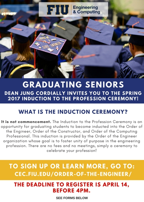 CEC Induction to the Profession Ceremony flyer