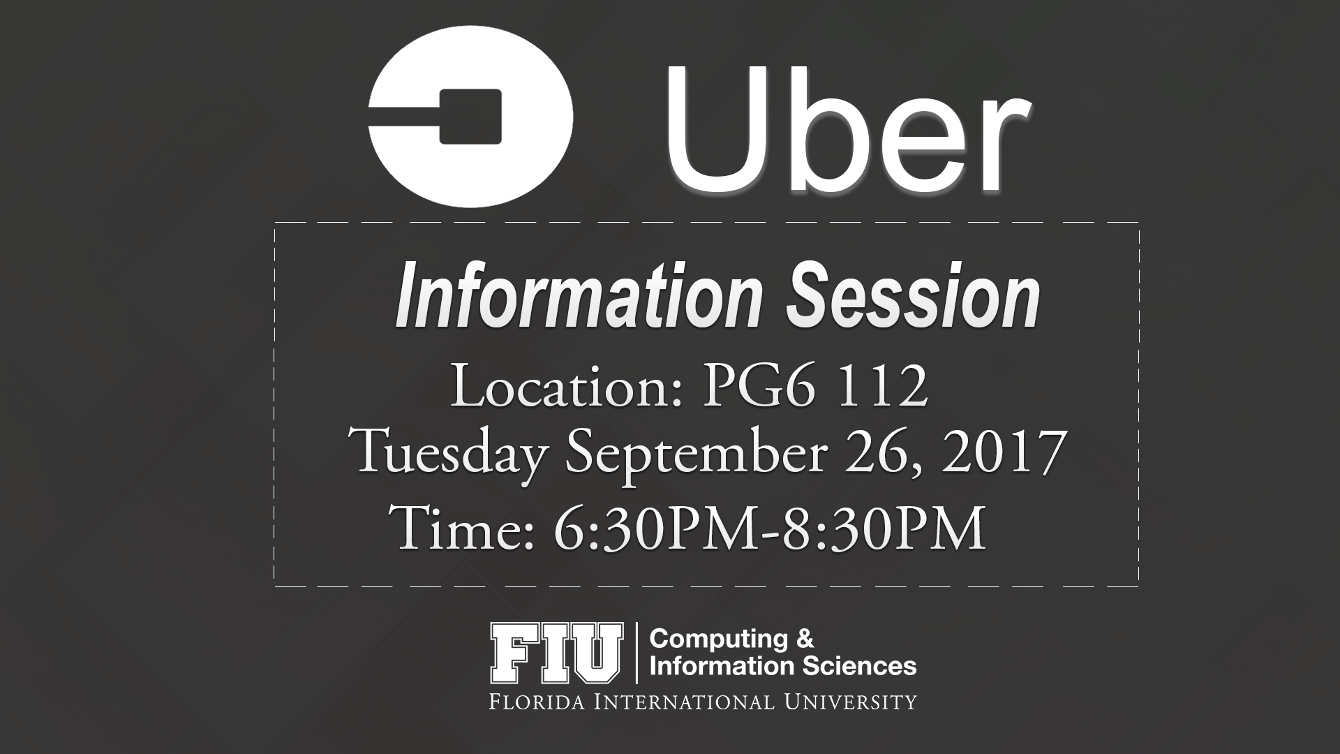 uber information session school of computing and