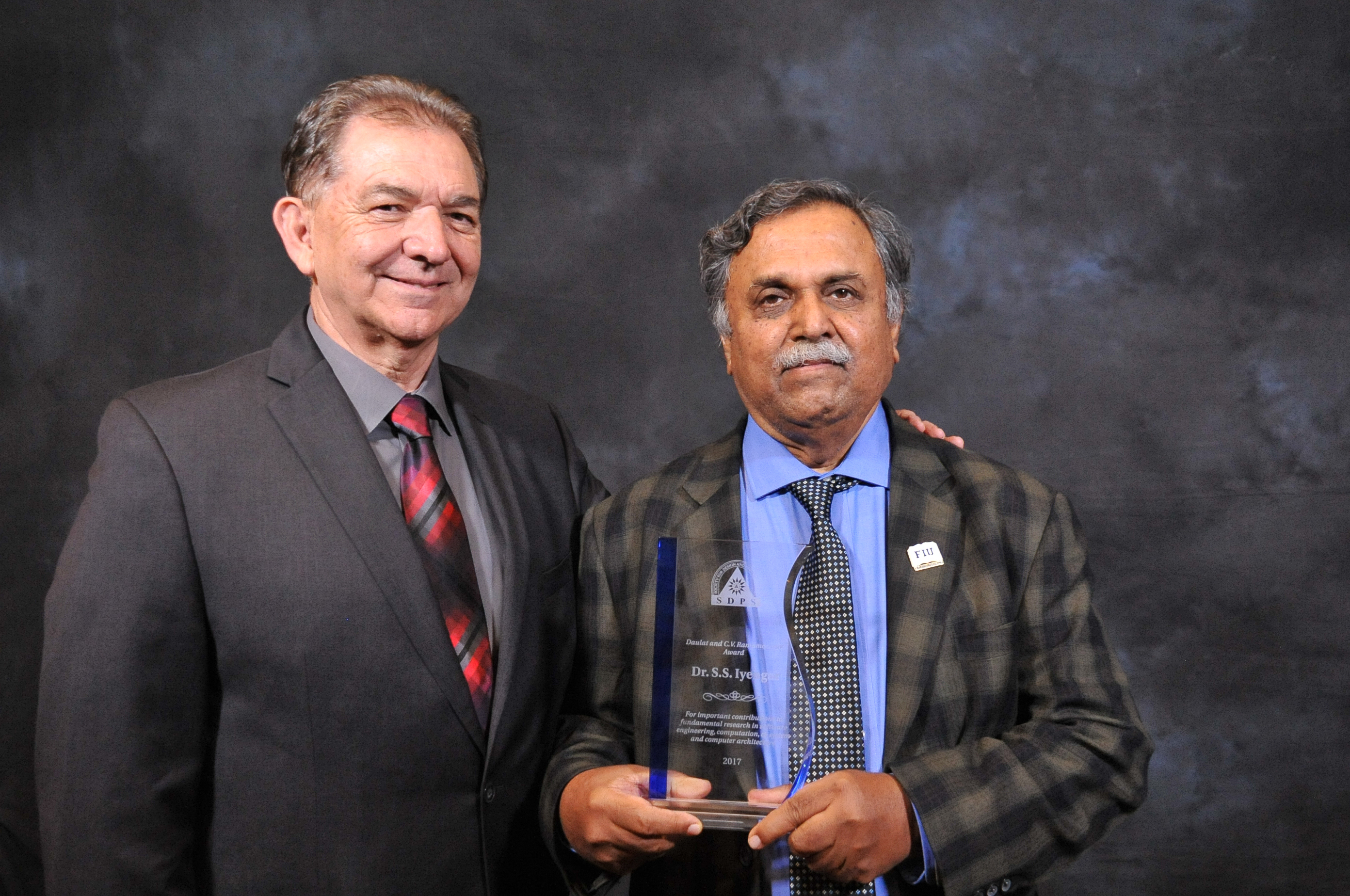 Photo of Dr. Iyengar Awarded the Most Distinguished Ramamoorthy Award