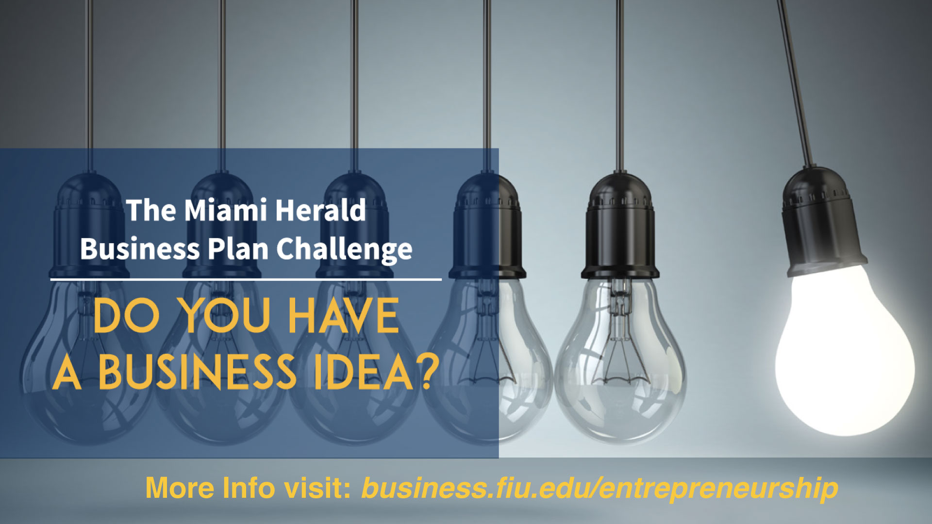Flyer of 2018 Miami Herald Business Plan Challenge