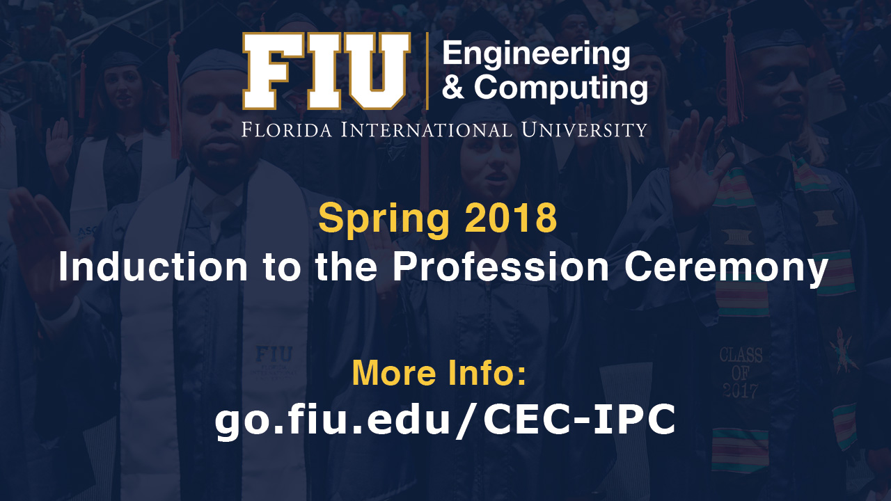 Flyer for CEC Spring 2018 Induction to the Profession Ceremony