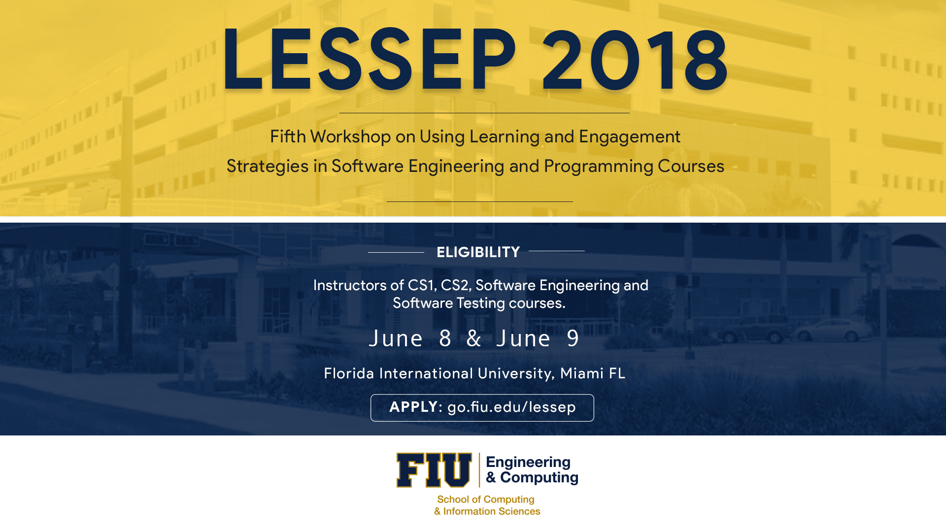 Flyer of LESSEP 2018