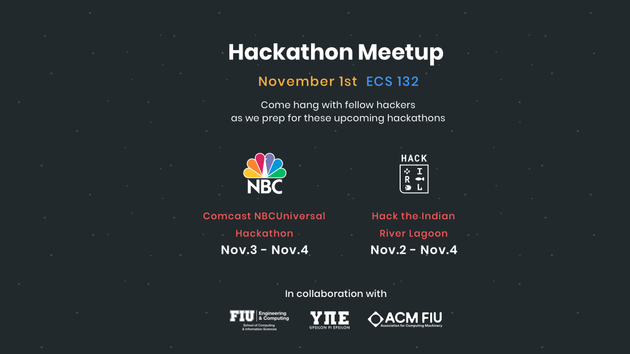 Flyer of Hackathon Meetup